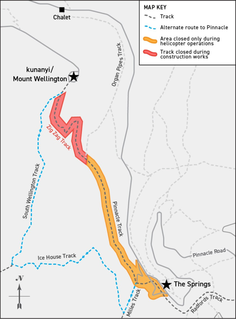 Map of Zig Zack Track Closure